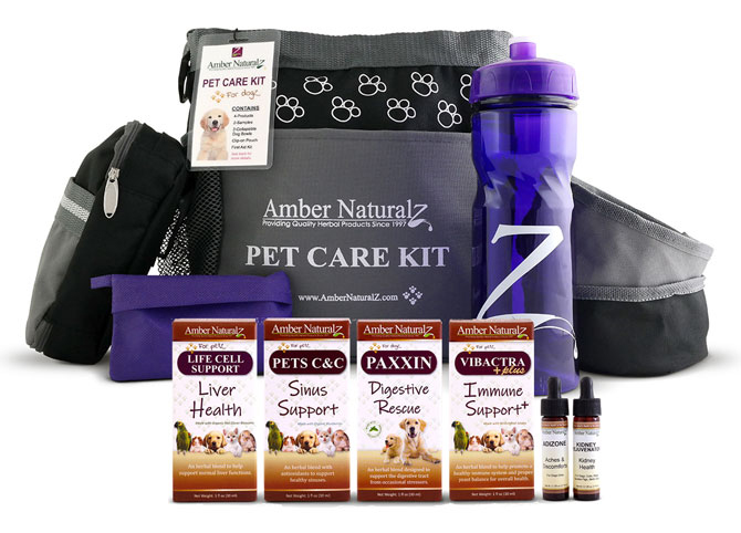 Natural Organic Canine & Feline Health Care Kits help keep our pets happy and healthy.