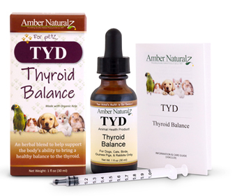 TYD is a natural organic product for pets and animals that helps normalize the thyroid. TYD is helpful for both hypothyroid and hyperthyroid conditions.